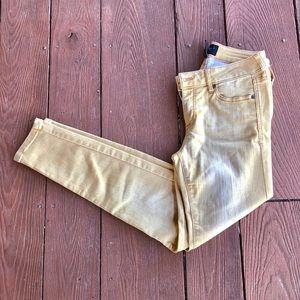 {Celebrity Pink} Mustard yellow denim pants